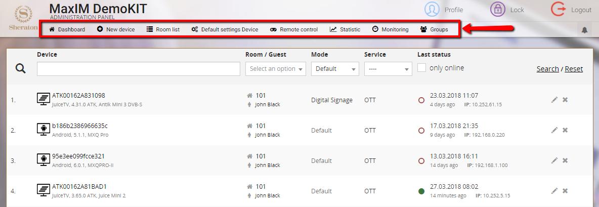 MIDDLEWAREIPTV SERVICES > IPTV Management Server MaxIM