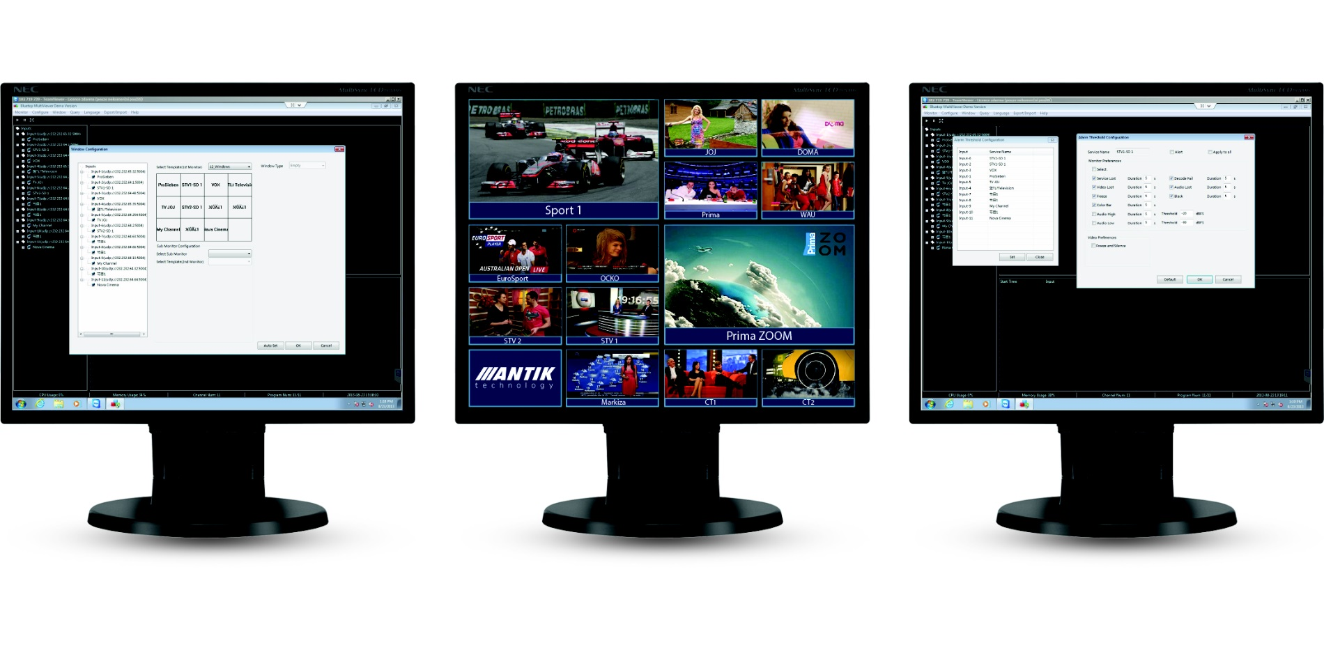 STREAMINGIPTV HEADEND > Monitoring > Multiview Monitoring room